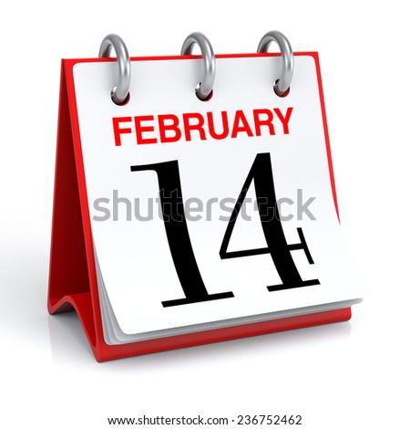 February Calendar - stock photo