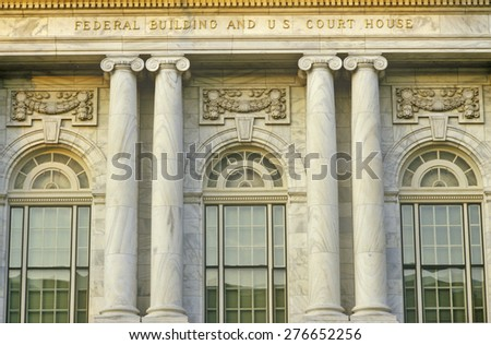 Federal Building and U.S. Court House of Macon, Georgia - stock photo