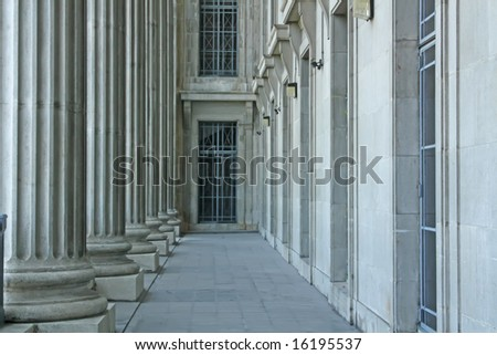 Federal Courthouse Representing Law and Order During the Day - stock photo