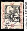 FEDERAL REPUBLIC OF GERMANY - CIRCA 1971: A stamp printed in the Federal Republic of Germany shows Thomas Von Kempen, 1471, circa 1971 - stock photo