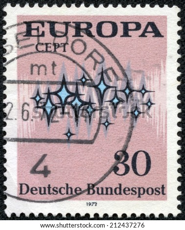 FEDERAL REPUBLIC OF GERMANY - CIRCA 1972: A stamp printed in the Federal Republic of Germany shows Europa, circa 1972