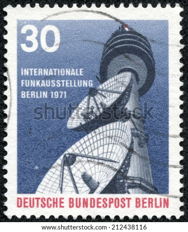 FEDERAL REPUBLIC OF GERMANY - CIRCA 1971: A stamp printed in the Federal Republic of Germany shows Internationall Funkausstellung, Berlin 1971, circa 1971