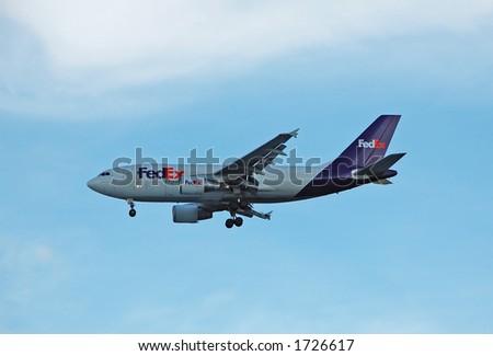Fedex Airbus A-310 cargo airplane - stock photo