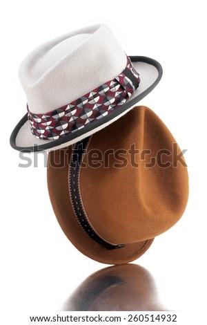 Fedora Hats - stock photo