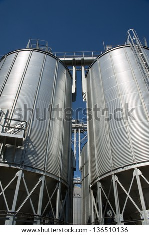 feed mill - stock photo