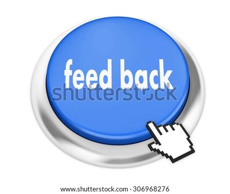 Feedback button on isolate white background - stock photo