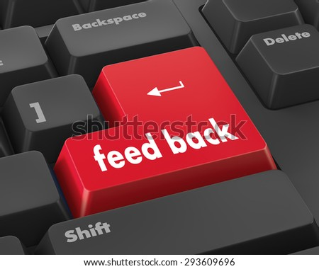 Feedback button on keyboard - stock photo