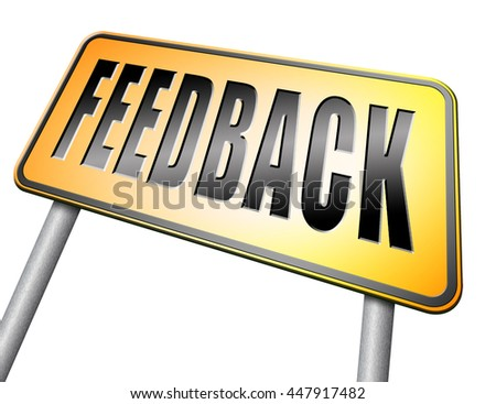 feedback or testimonials or comments for improvement and customer satisfaction, 3D illustration on white background