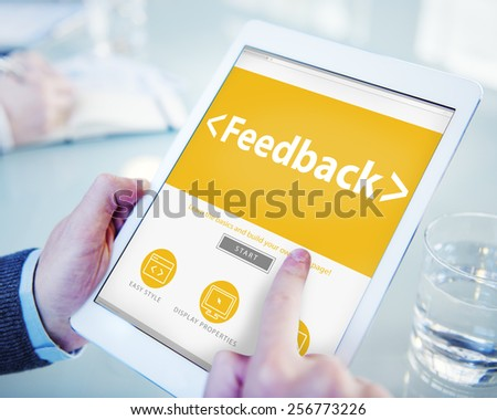 Feedback Satisfaction Information Business Office Working Concept - stock photo
