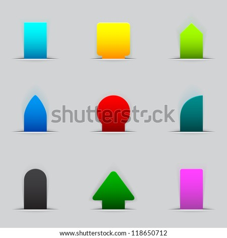 Feedback tabs on the edge of the (web) page - stock photo