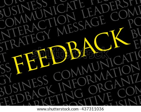 Feedback Word Cloud, business concept background - stock photo