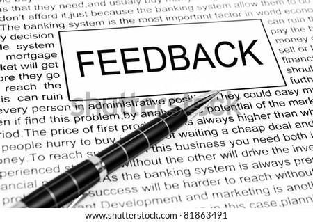 feedback word on business page - stock photo