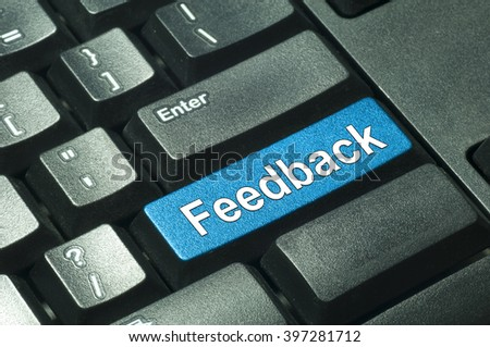 Feedback word on computer keyboard - IT Concept - stock photo