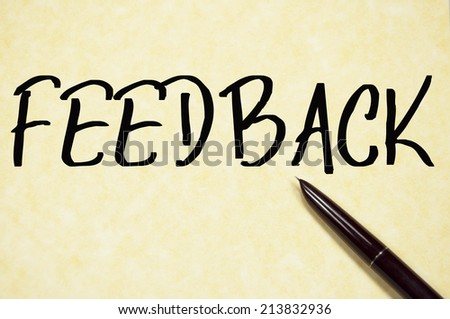 feedback word write on paper  - stock photo