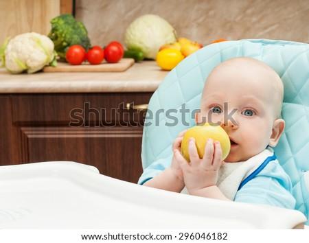 Feeding baby. - stock photo