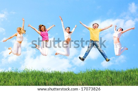 """Feels so right! - see more of  """"Groups  of people"""" series in portfolio - stock photo"""