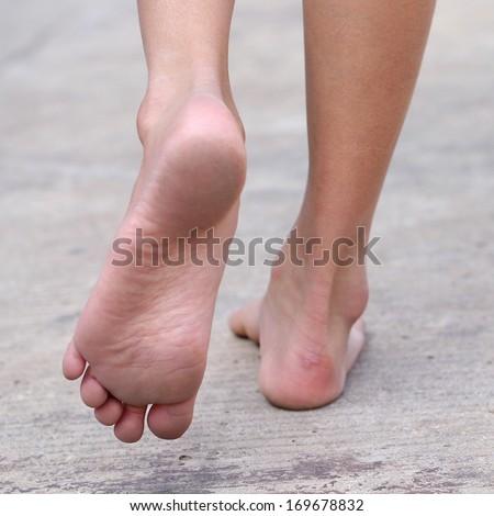 FEET , FOOT ,walk - stock photo