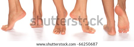 Feet in different angles - stock photo