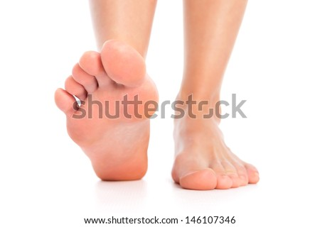 Feet isolted - stock photo