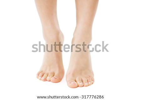 Feet of a woman  - stock photo