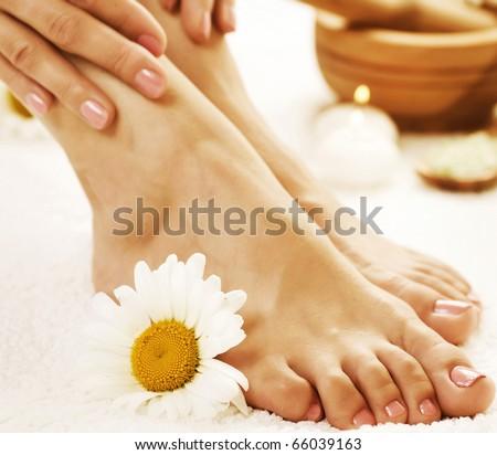 Feet Spa.Pedicure concept - stock photo