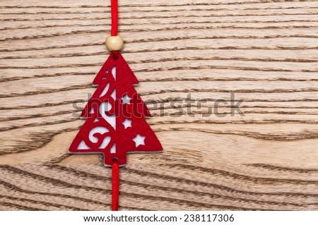 Felt christmas tree - stock photo