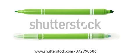 Felt-tip pen marker isolated - stock photo