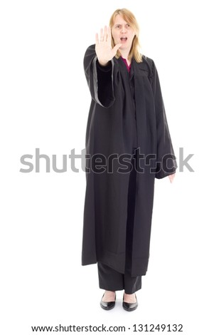 Female attorney - stock photo