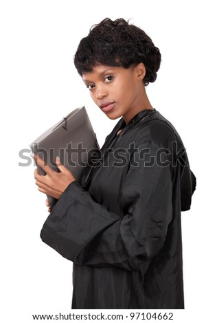 Female attorney a graceful young lady - stock photo
