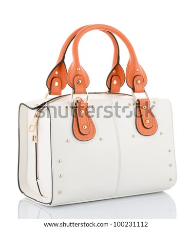 female bag isolated on white