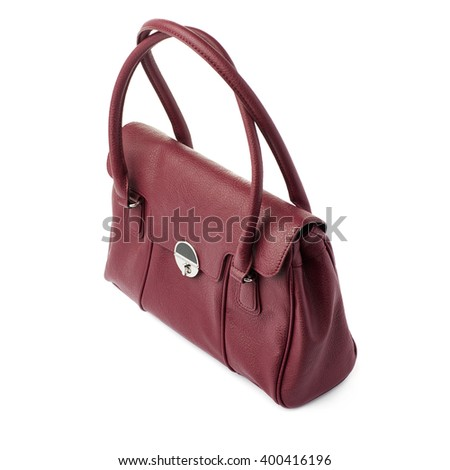 Female bag isolated over the white background