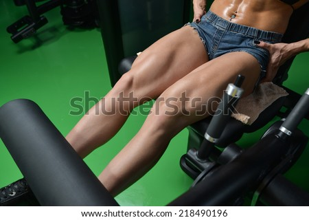 fitness woman trainingstrong abs showing stock photo