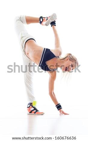 Female breakdancer - stock photo