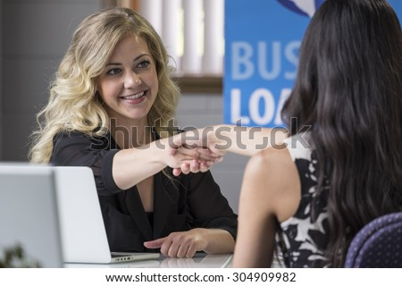 Female business loans worker - stock photo