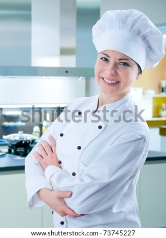female chef - stock photo