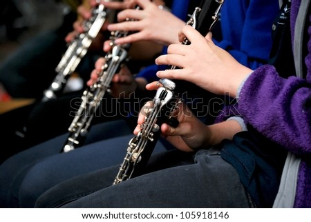 Female clarinet player