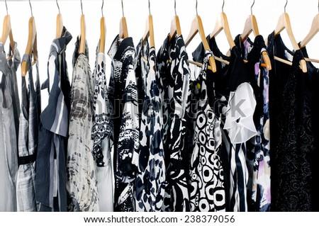 female clothing on display  - stock photo
