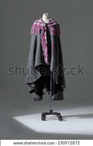 Female clothing on mannequin isolated - stock photo