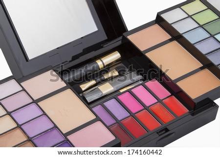 female cosmetic eyeshadow - stock photo