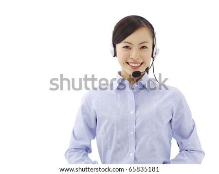 female customer service - stock photo