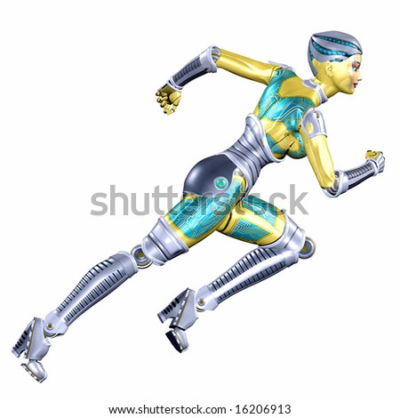 Female Cyborg - stock photo