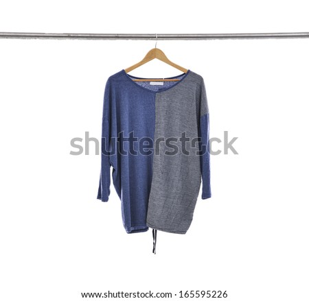 female dress isolated on hanging-white background - stock photo