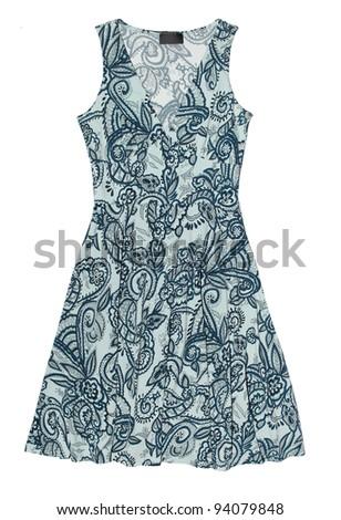 female dress isolated on the white background - stock photo