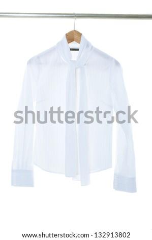 female dress white - stock photo