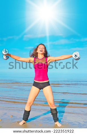 Female Exercising Sports Outside