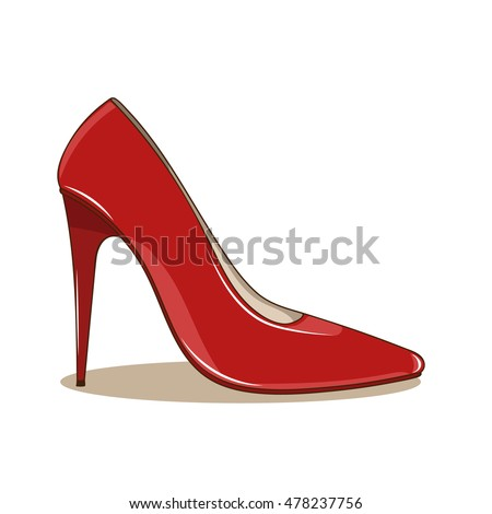 Side View Red High Heels Shoes Stock Photo 190519844 - Shutterstock