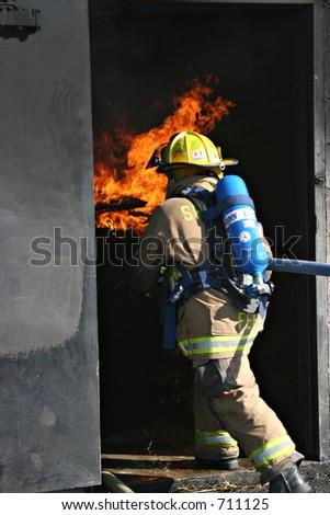 Female Firefighter 02 - stock photo