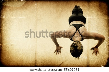 Female Fitness Bodybuilder - Textured - stock photo