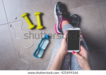 Female fitness exercise concept - stock photo