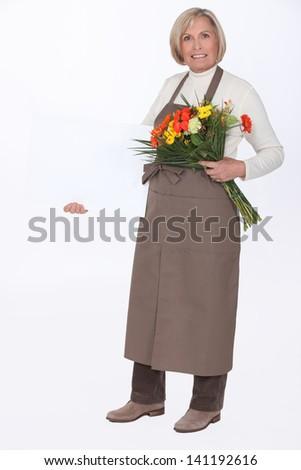 Female florist - stock photo